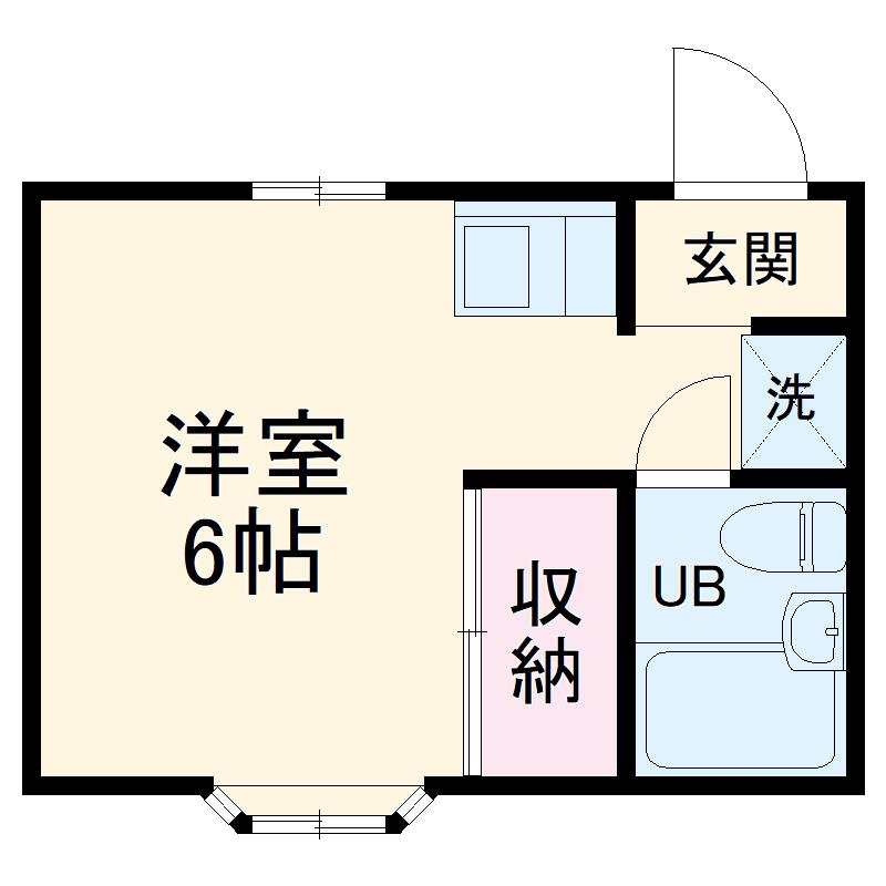 グレース武蔵浦和・105号室の間取り