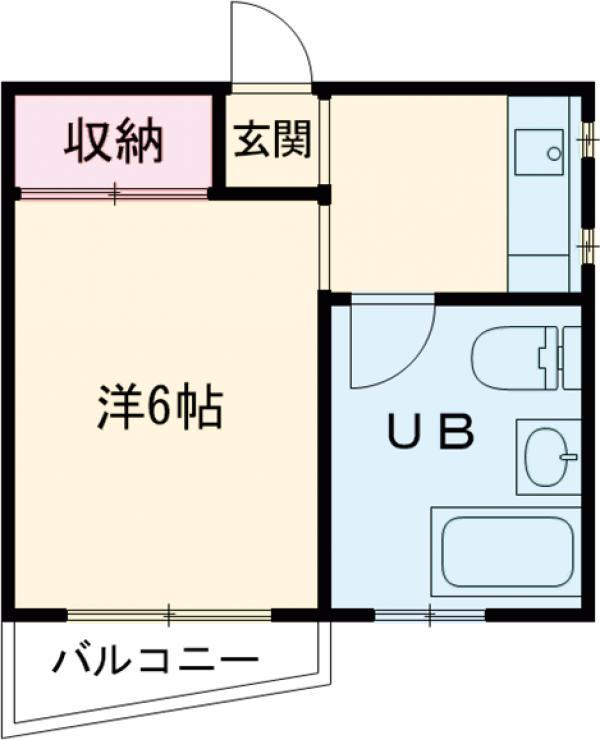 丸共ハウス・301号室の間取り