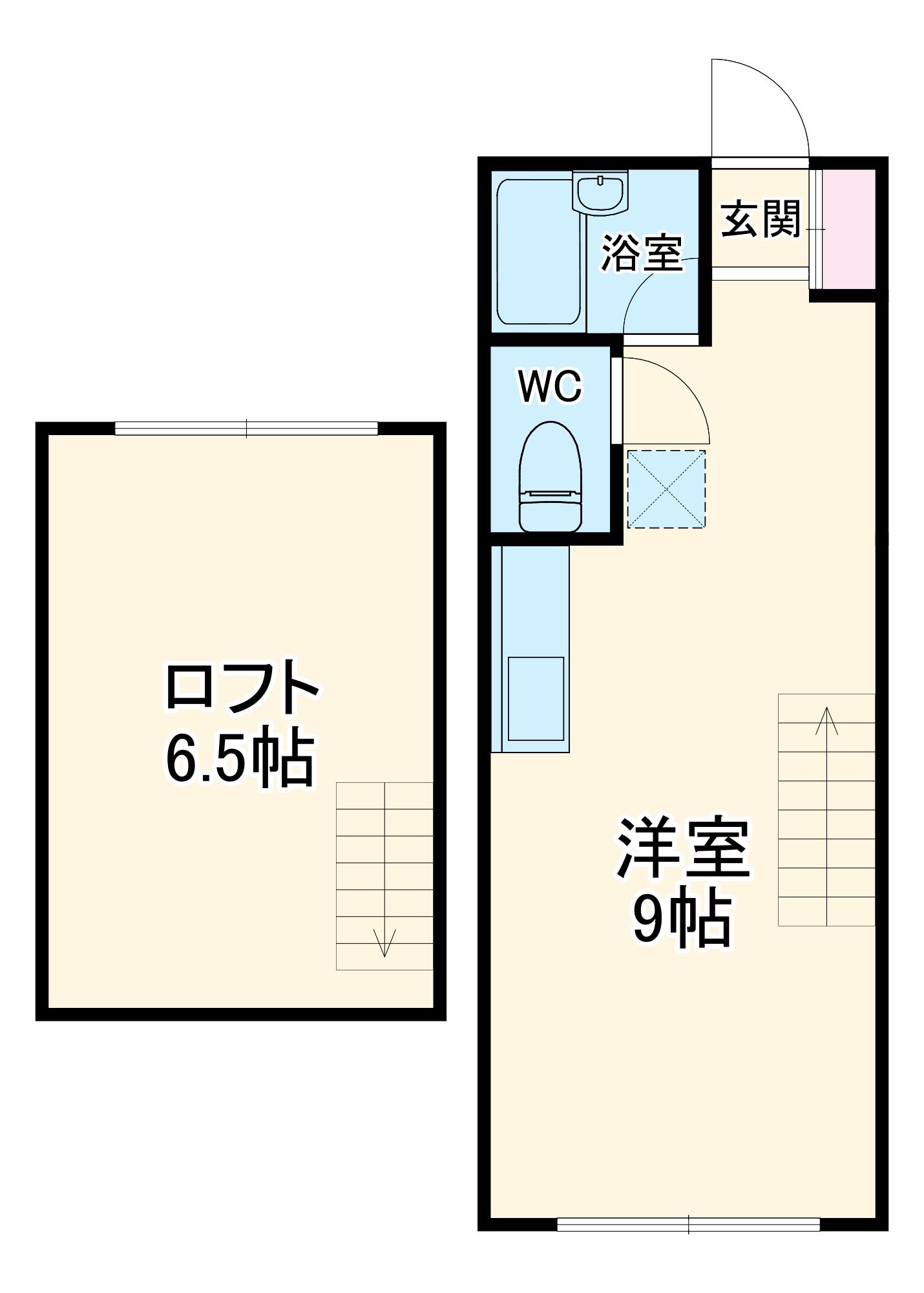 west village31・201号室の間取り