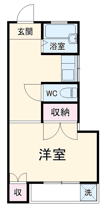 岩崎アパート・202号室の間取り