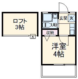 ローズアパートR21・203号室の間取り