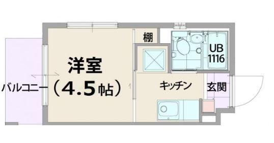 さくらハウス・205号室の間取り