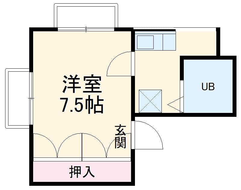 KMマンション・302号室の間取り