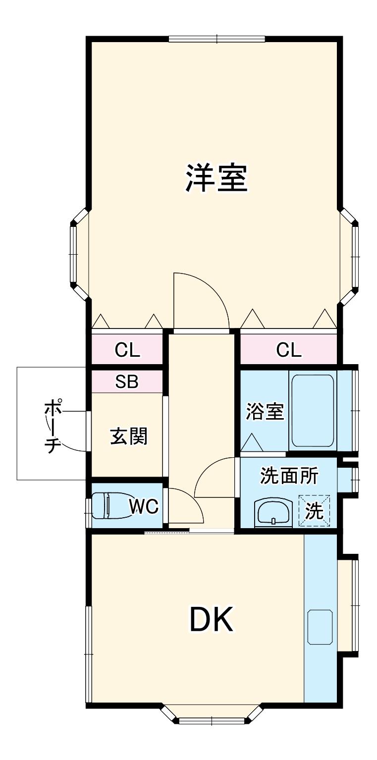 瑞江コーポ・2F号室の間取り