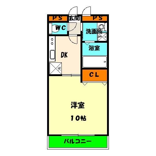 アムールKATAKURA・101号室の間取り