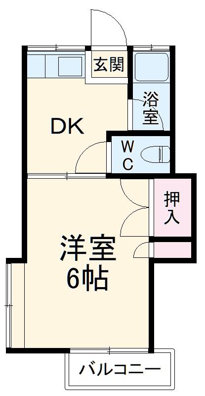 コットンハウス南福岡・B102号室の間取り