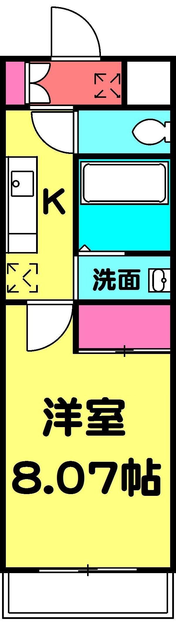 サンイング北松戸・602号室の間取り