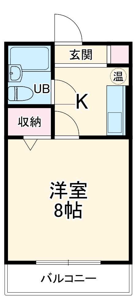 ハイツKAKIHATA・203号室の間取り