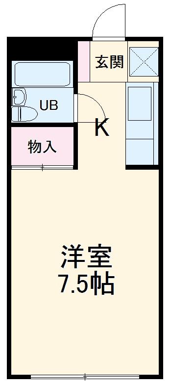 住まいる3号館・105号室の間取り