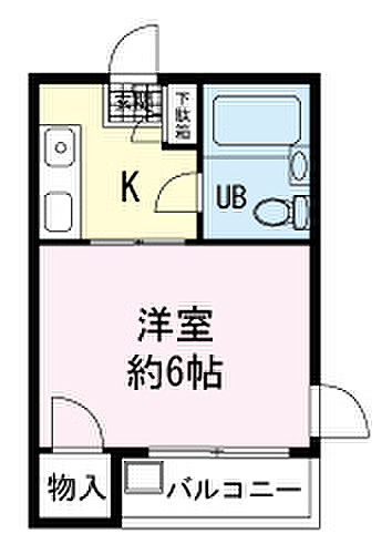 加茂川リバーサイドマンション・302号室の間取り