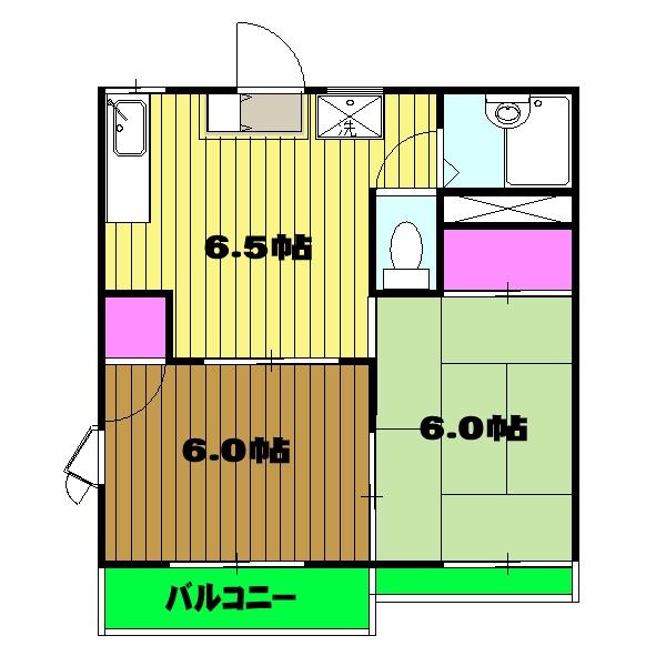 ルミエール所沢Ⅱ・00103号室の間取り
