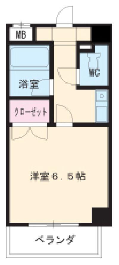 グランメールKAZU 706号室の間取り