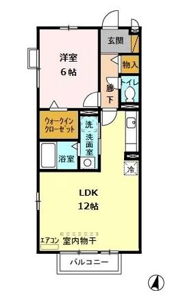 パルテールシノヤマ・203号室の間取り