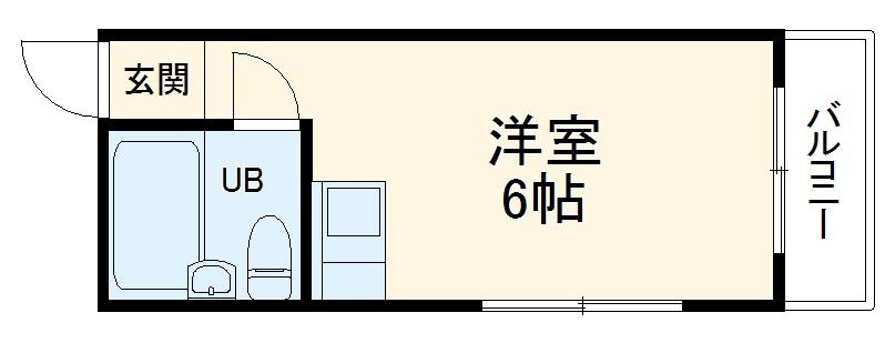 ハートイン竹田町・2B号室の間取り
