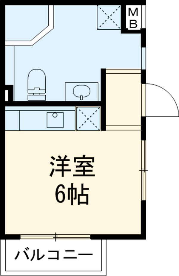 Ⅰ Rashiku 中山 201号室の間取り