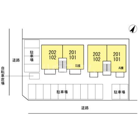 オリーブ A202号室の駐車場