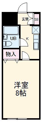 アクセスコートⅥ 2E号室の間取り