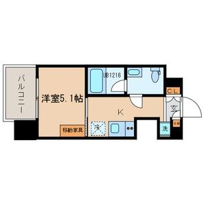 TOKIO久米川タワー・01204号室の間取り