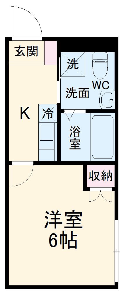 カインドネス所沢宮本町A棟・00202号室の間取り
