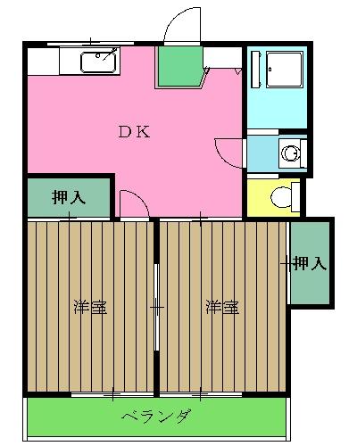 中野コーポラス・504号室の間取り