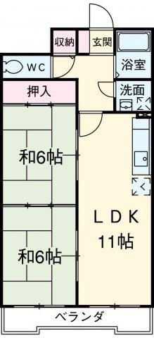 ファミール元柴田東町・602号室の間取り