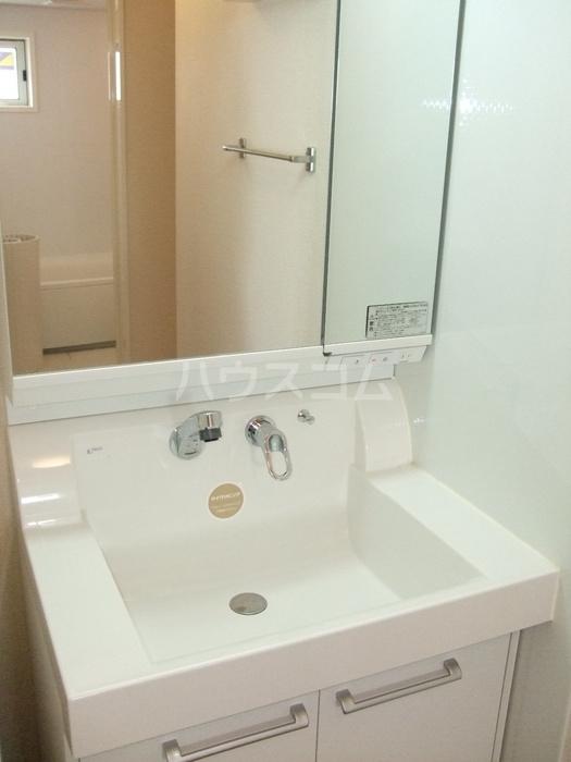 コンフィアンスーフェールD 201号室の洗面所