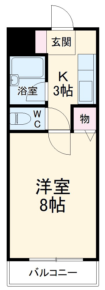 ラ・フォーレ桜ケ丘・105号室の間取り