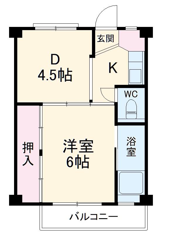 ビレッジハウス仁木・2-306号室の間取り