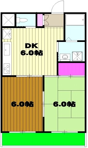 キングス所沢 00402号室の間取り