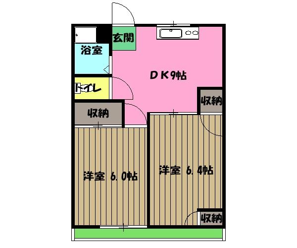 東栄ハイツ・304号室の間取り