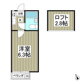 レモンハイツ・00206号室の間取り