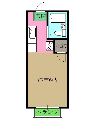 シルクハイムIWASAKI B・205号室の間取り