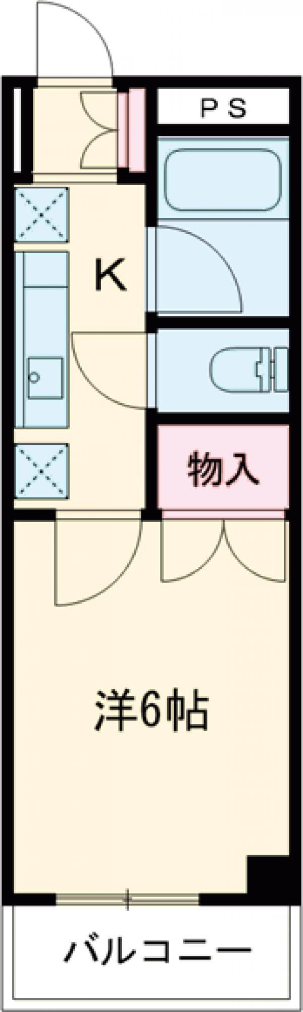 クーノス片倉・203号室の間取り