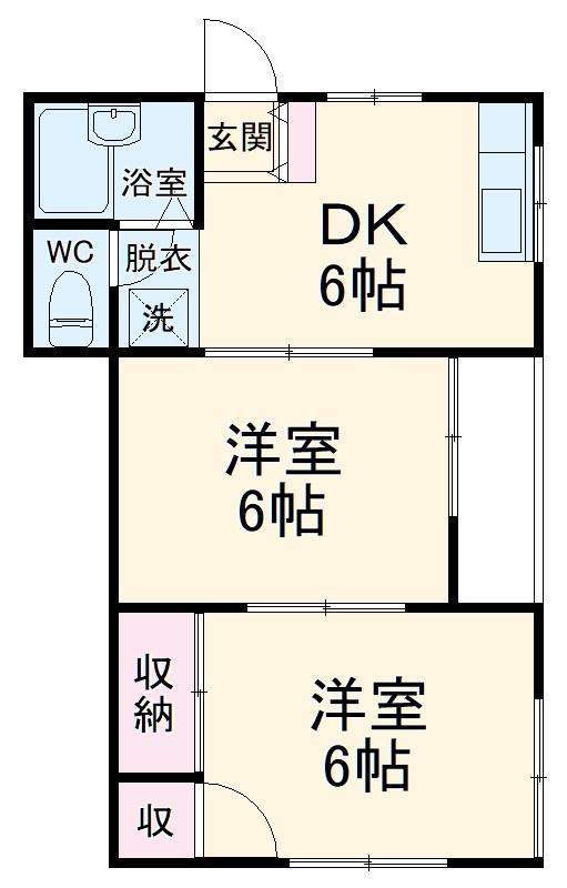 キャッスル増田・00105号室の間取り