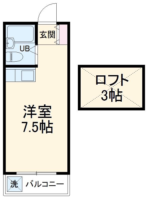 モナークハイムⅡ・00202号室の間取り