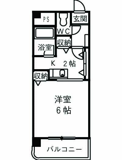 泉町パークマンション・00208号室の間取り