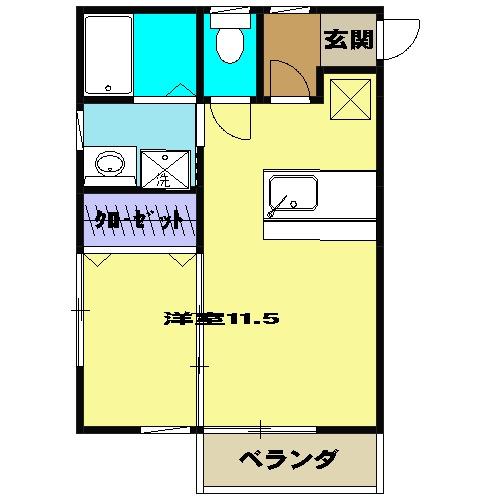メゾン・ベール 00203号室の間取り