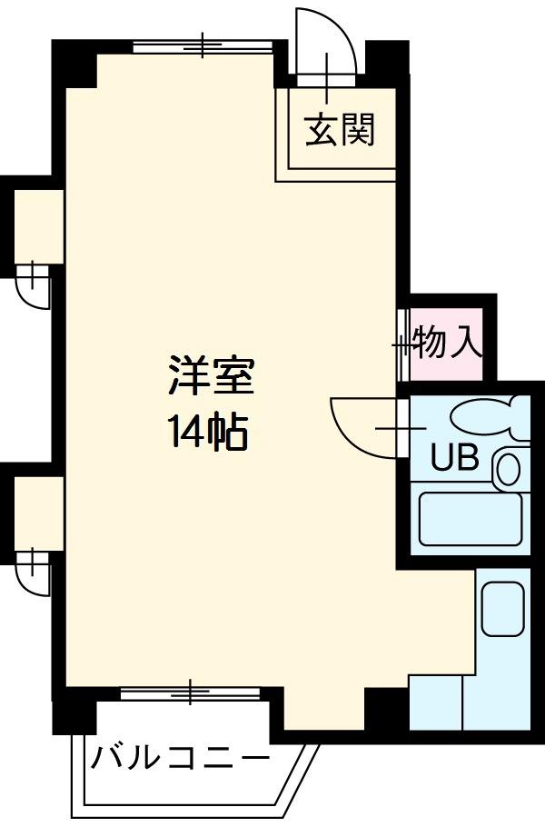 岡崎第2東海ビル・404号室の間取り