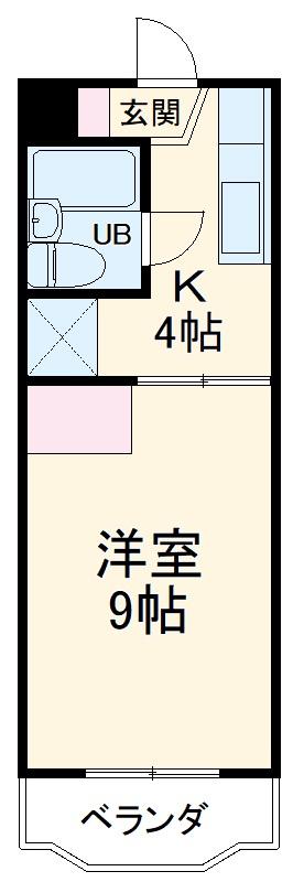 パレス菅沼 201号室の間取り