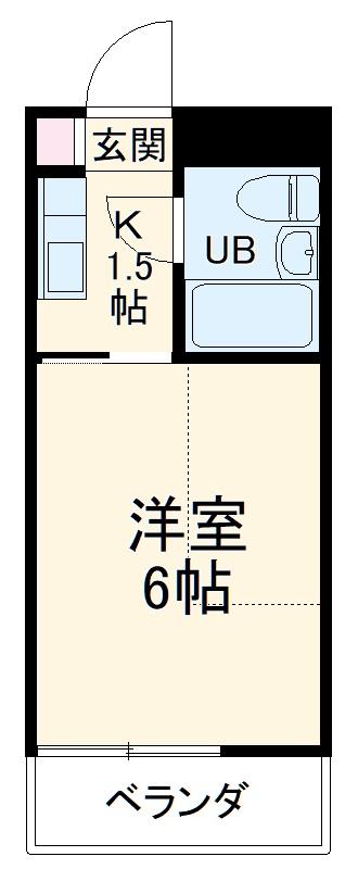 ビラ三秀植田・102号室の間取り