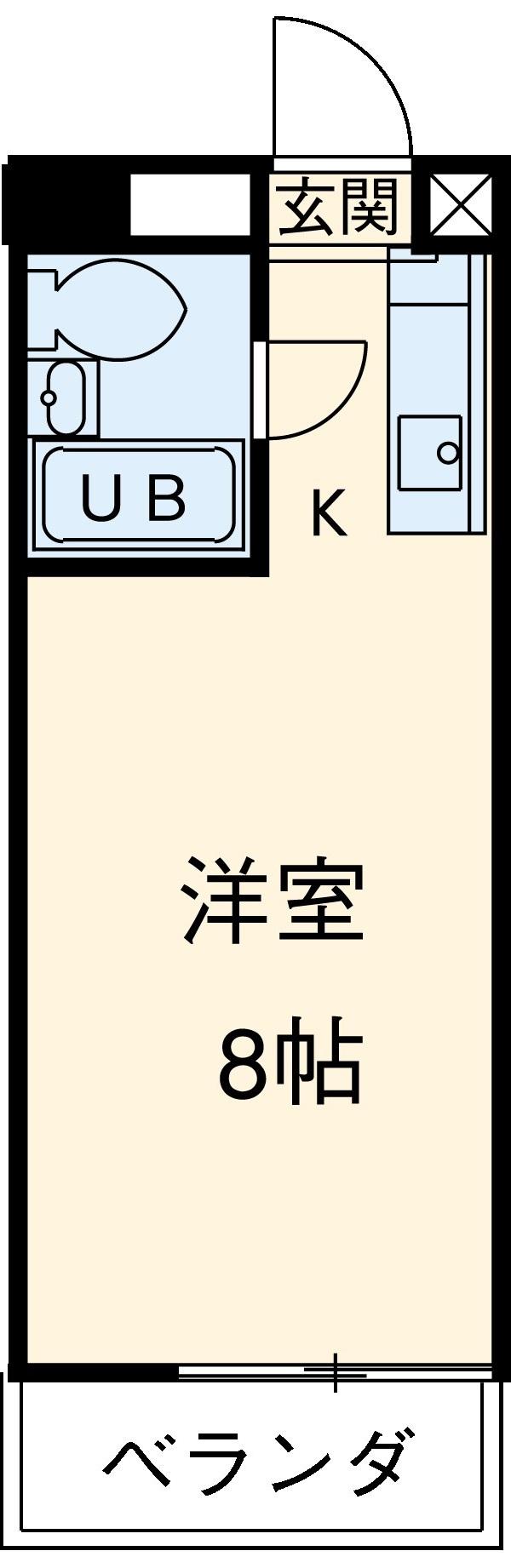 ビラ三秀植田・303号室の間取り