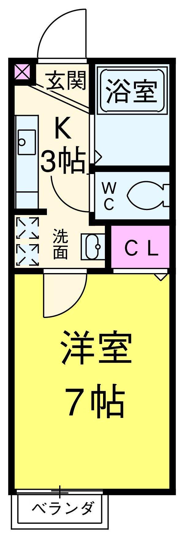 CENTRAGE松戸・203号室の間取り