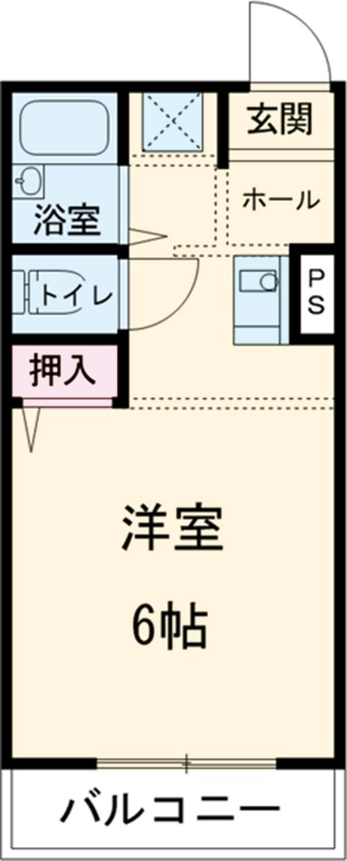 菅野マンション・406号室の間取り