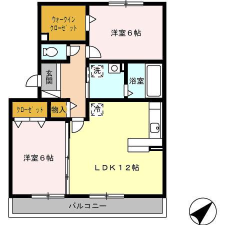 エクレール新栄 A棟 302号室の間取り