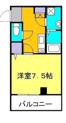 LIVELY CABIN・206号室の間取り