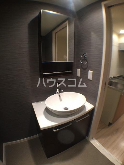 Abisko 103号室の洗面所