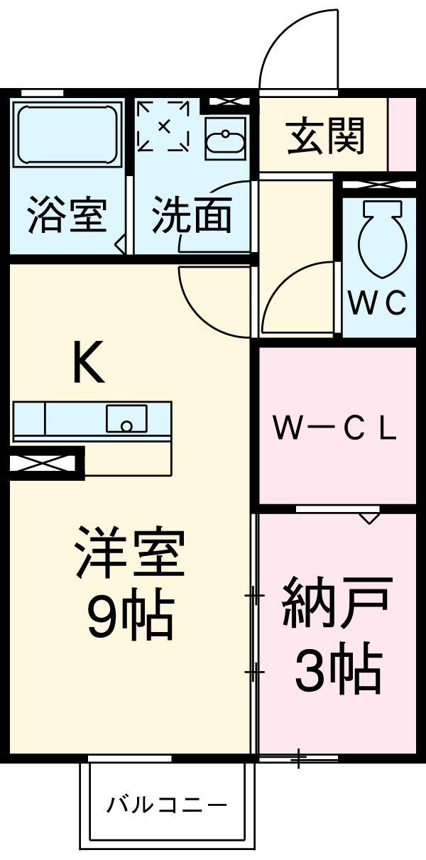 レセンテ豊田・105号室の間取り