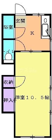 ウインベル栄Ⅱ 103号室の間取り