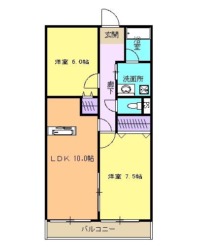 サンパークSHIMADA 203号室の間取り