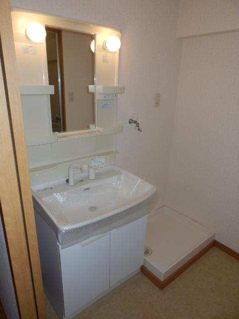 サンパークSHIMADA 203号室の洗面所